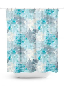 Triangle Faceted Pattern Shower Curtain