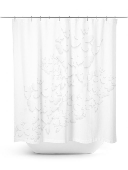 Butterfly shadows shower curtain