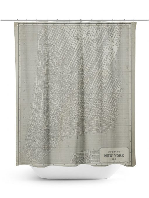 historic map of New York City Shower Curtain