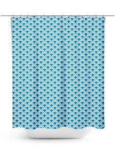 Asian Textile Art Pattern Shower Curtain