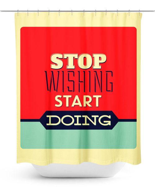 Motivational Message Shower Curtain