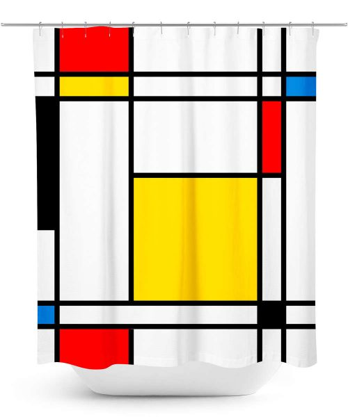 Mondrian Design Shower Curtain