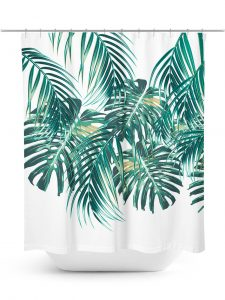 Tropical Palm Leaf Shower Curtain