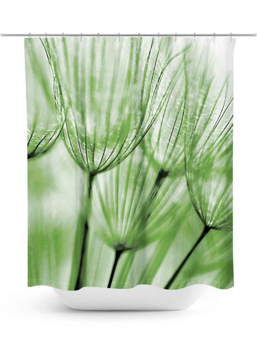 Dandelion macro photo shower curtain