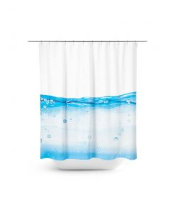 water level graphic shower curtain