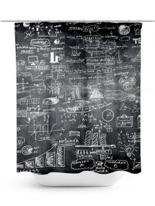 Chalkboard with Business Plans Design Shower Curtain