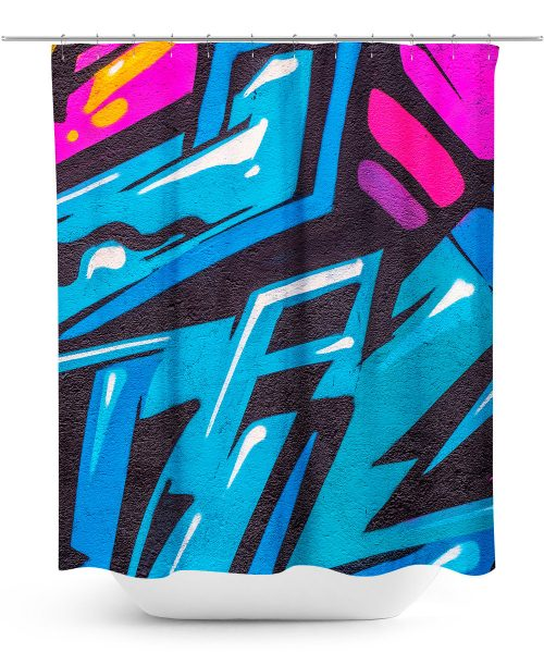 Urban Graffiti Design Shower Curtain