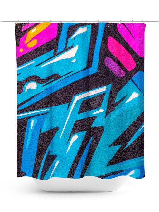 Urban Graffiti Design Shower Curtain