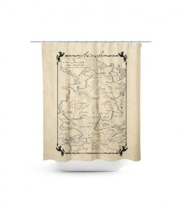 Game of Thrones North Map Shower Curtain