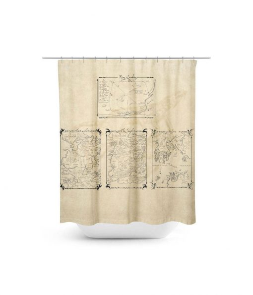 Game of Thrones Maps Shower Curtain
