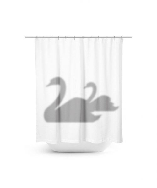 swan shadows shower curtain
