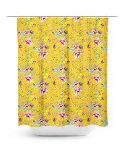 Asian Chinoiserie Style Print Shower Curtain
