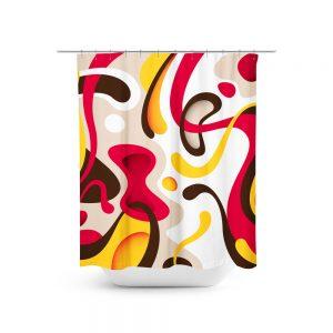 Miro Inspired Print Shower Curtain