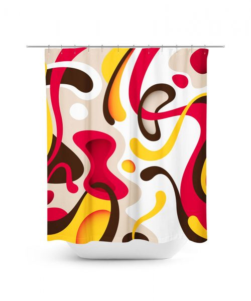 Miro Inspired Print Shower Curtain