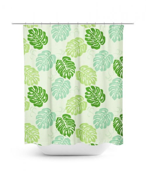 Topical leaf shower curtain