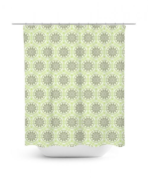 Flower Mandala Pattern Shower Curtain