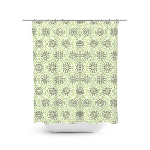 Flower Mandala Pattern Shower Curtain