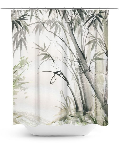Bamboo Print Shower Curtain