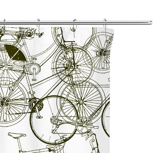 bicycle sketch pattern close up image