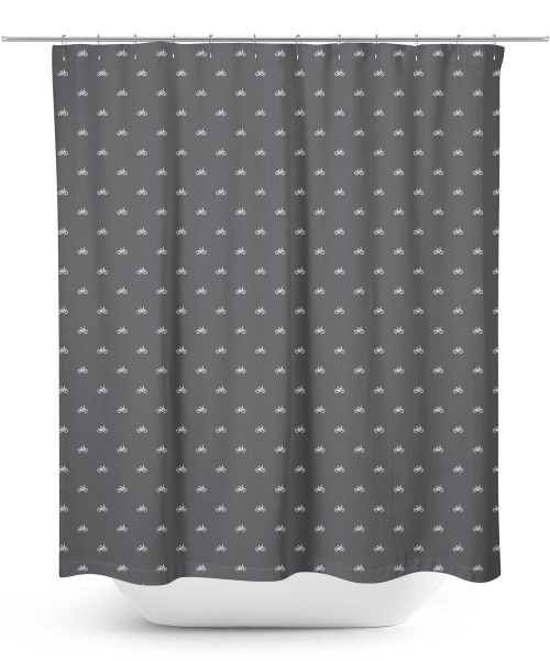 Bicycle symbol icon pattern shower curtain