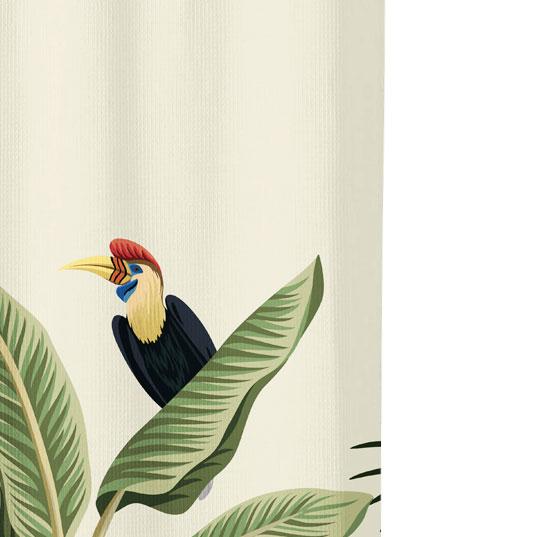 exotic bird pattern close up