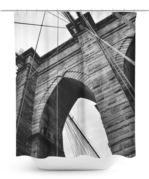 photo of brooklyn bridge shower curtain