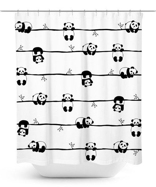 Playful Panda Bears Shower Curtain