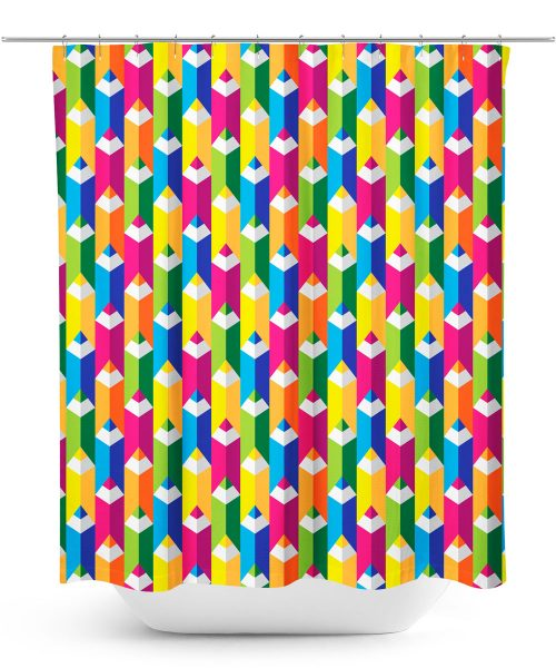Colored Pencils Graphic Shower Curtain