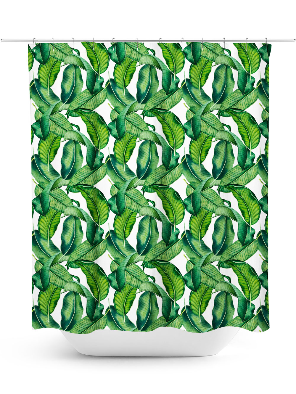 Falling Palm Fronds Shower Curtain