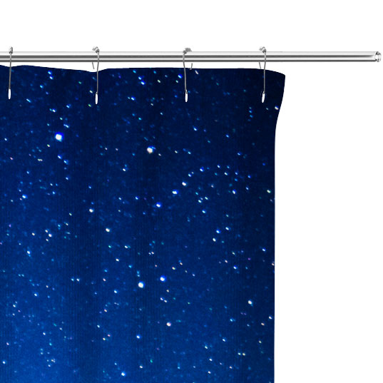 lighthouse photo shower curtain close up