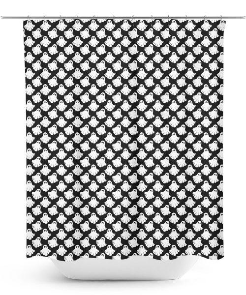 Cartoon Ghost Pattern Shower Curtain