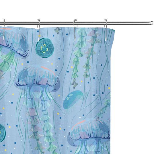 Jellyfish Shower Curtain close up