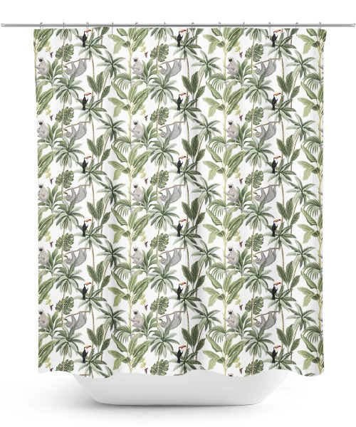 Jungle Trees Pattern Shower Curtain