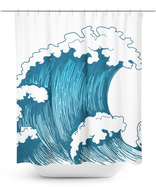 Ocean Wave Graphic Shower Curtain