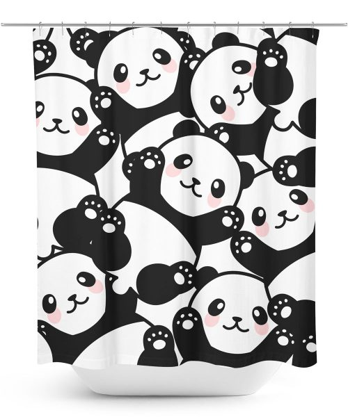 Panda Bear Pattern Shower Curtain