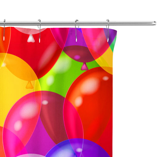 party balloon pattern close up image