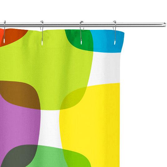 Retro Color Blocks Shower Curtain