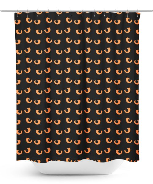 Spooky Eyes Pattern Halloween shower curtain