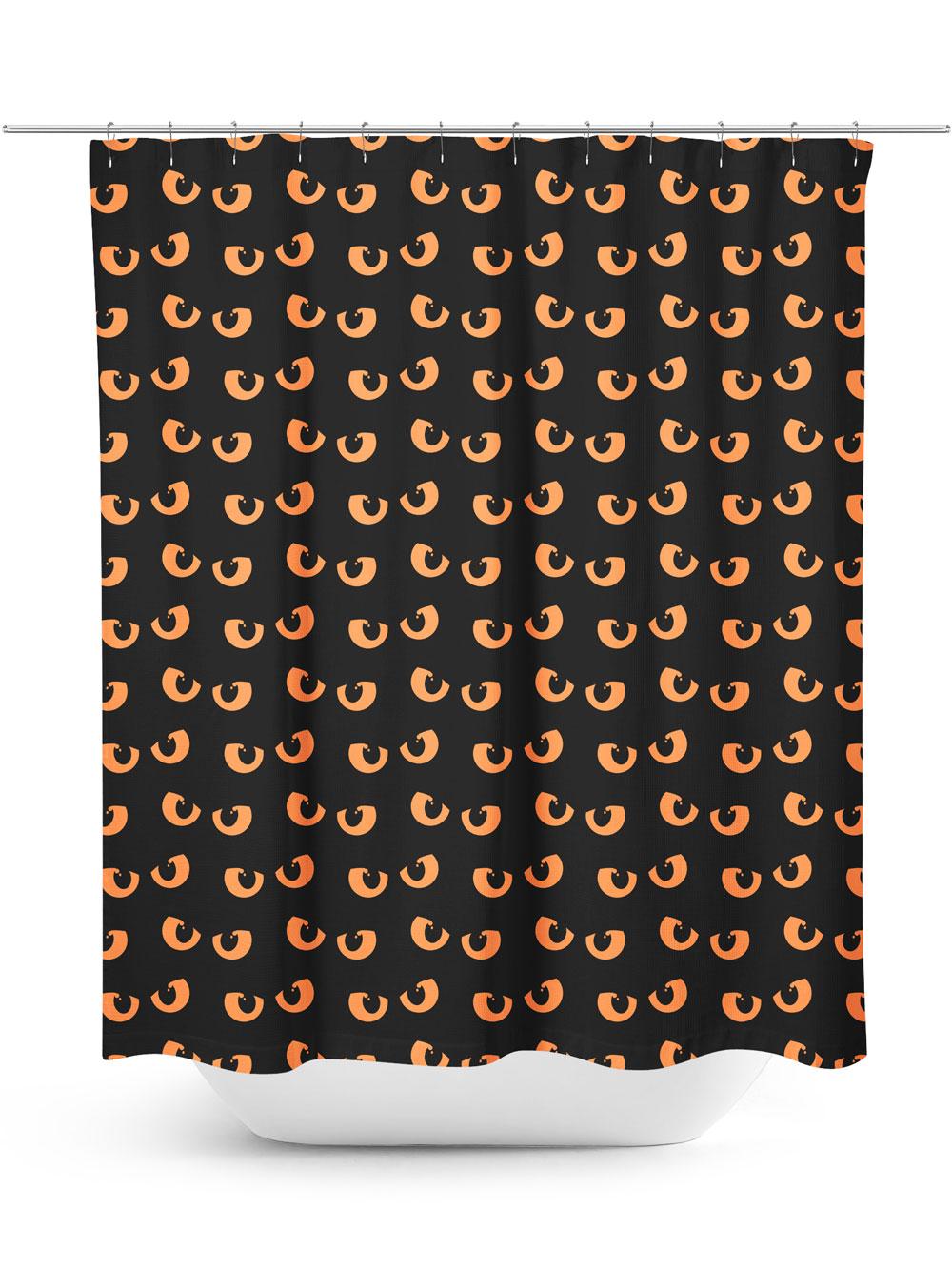 Spooky Eyes Pattern Halloween shower curtain