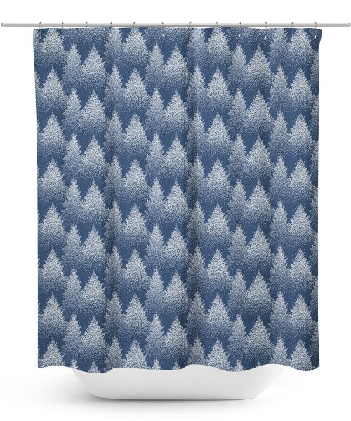Winter Tree Graphic Pattern Shower Curtain